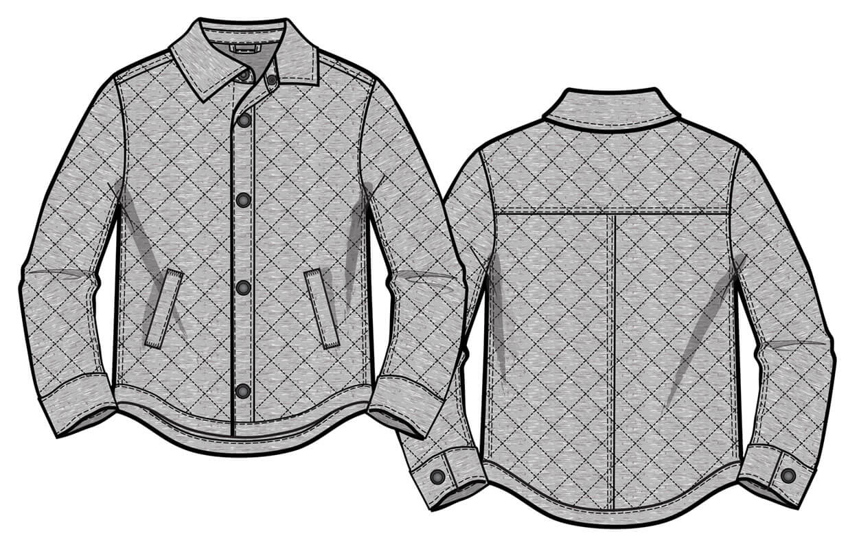 Quilted French terry Jacket