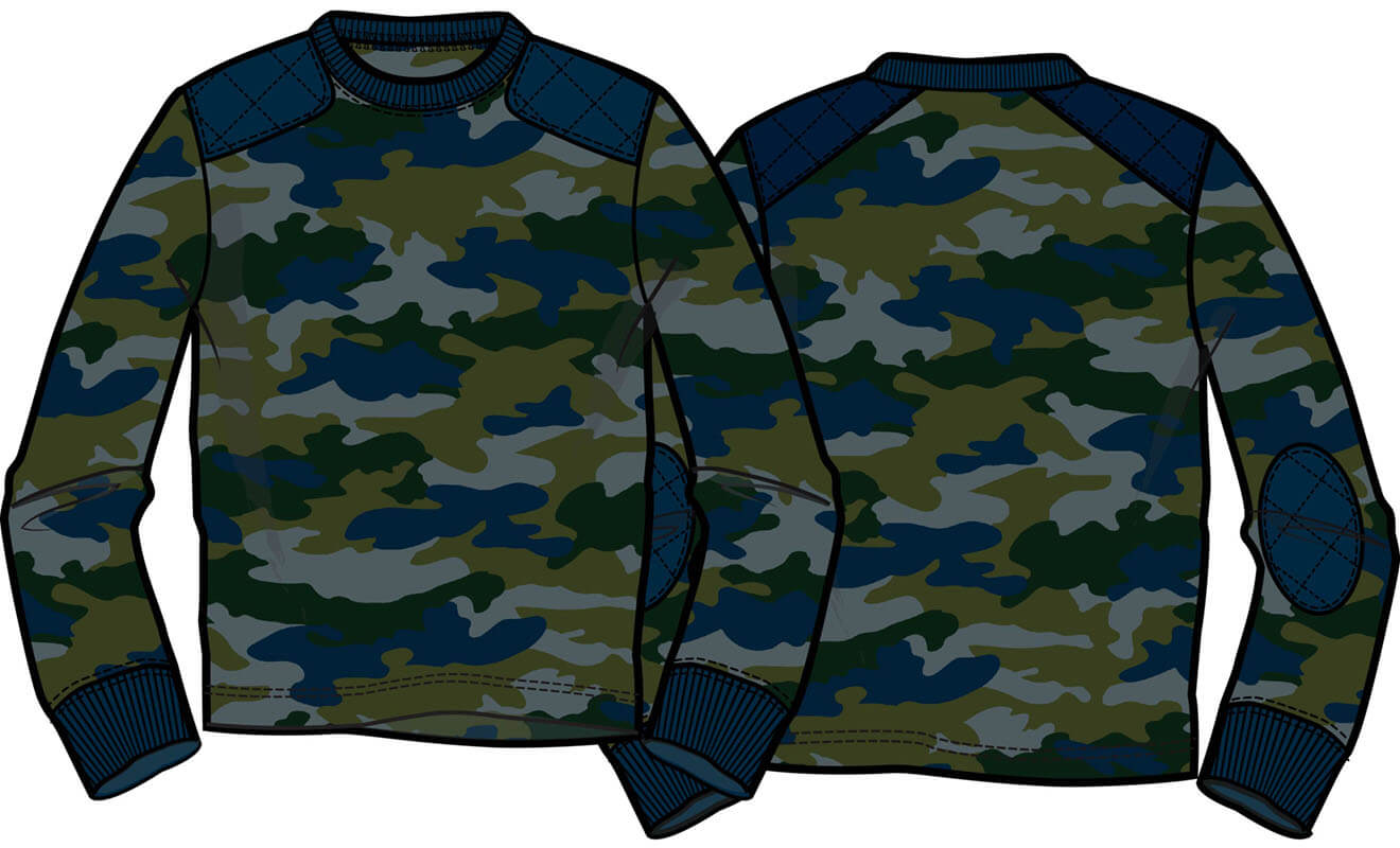Camo with quilted Piecing