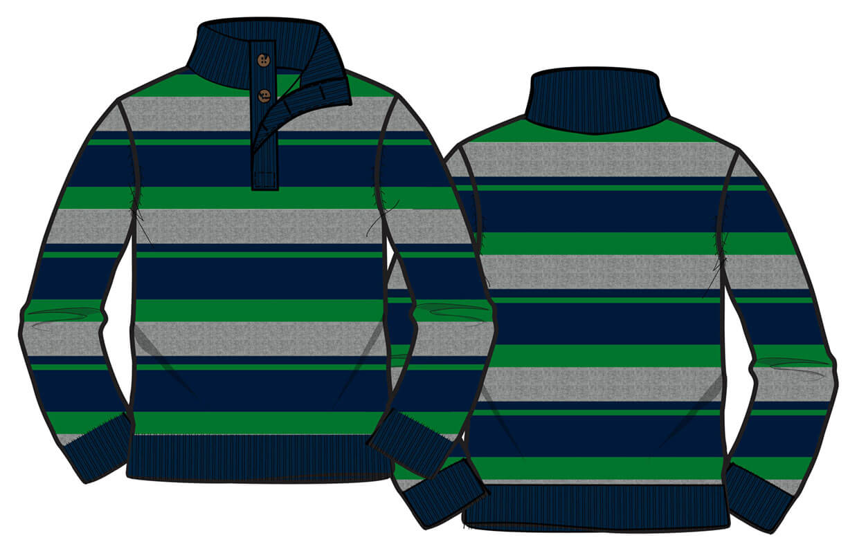 7gg stripe button sweater