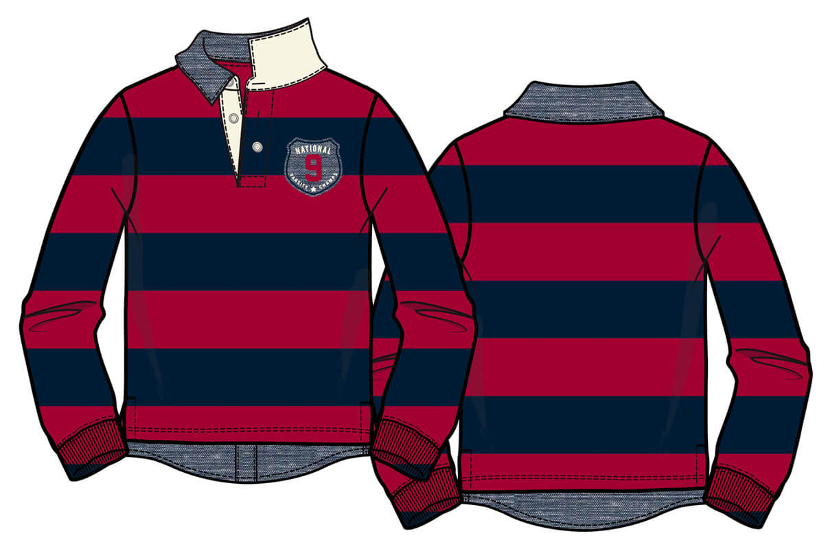 Rugby with Chambray hang-down