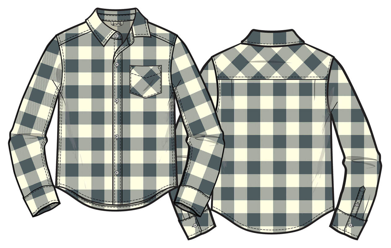 Buffalo check top
