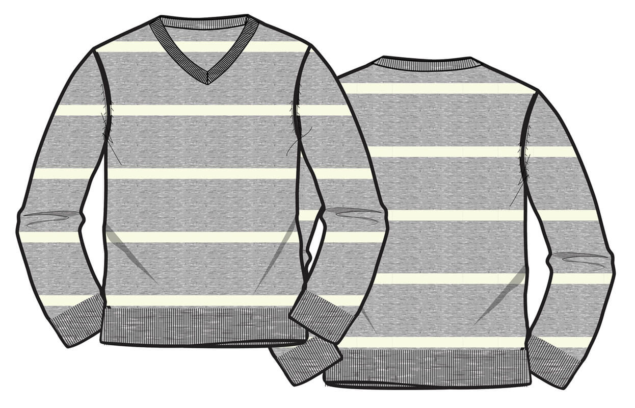 12gg stripe sweater