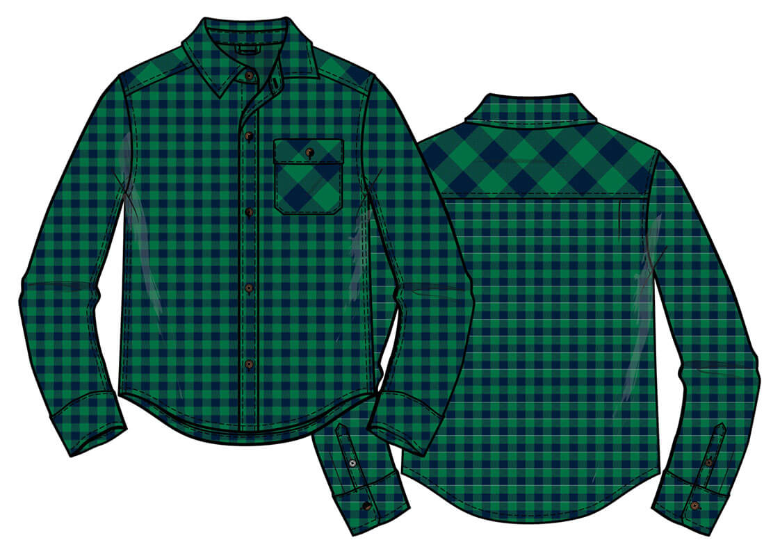 Long sleeve check top