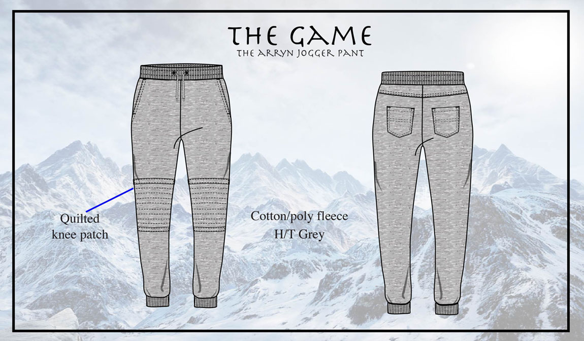 The Arryn Pant is a comfortable and edgy skinny jogger.   The quilted knee patch is a fresh update to the popular athleisure tend, the jogger pant. There are 2 functional front pockets as well as two back pockets.   These pants are versatile and can be worn as dressy casual or paired with the Arryn Quilted Pullover.
