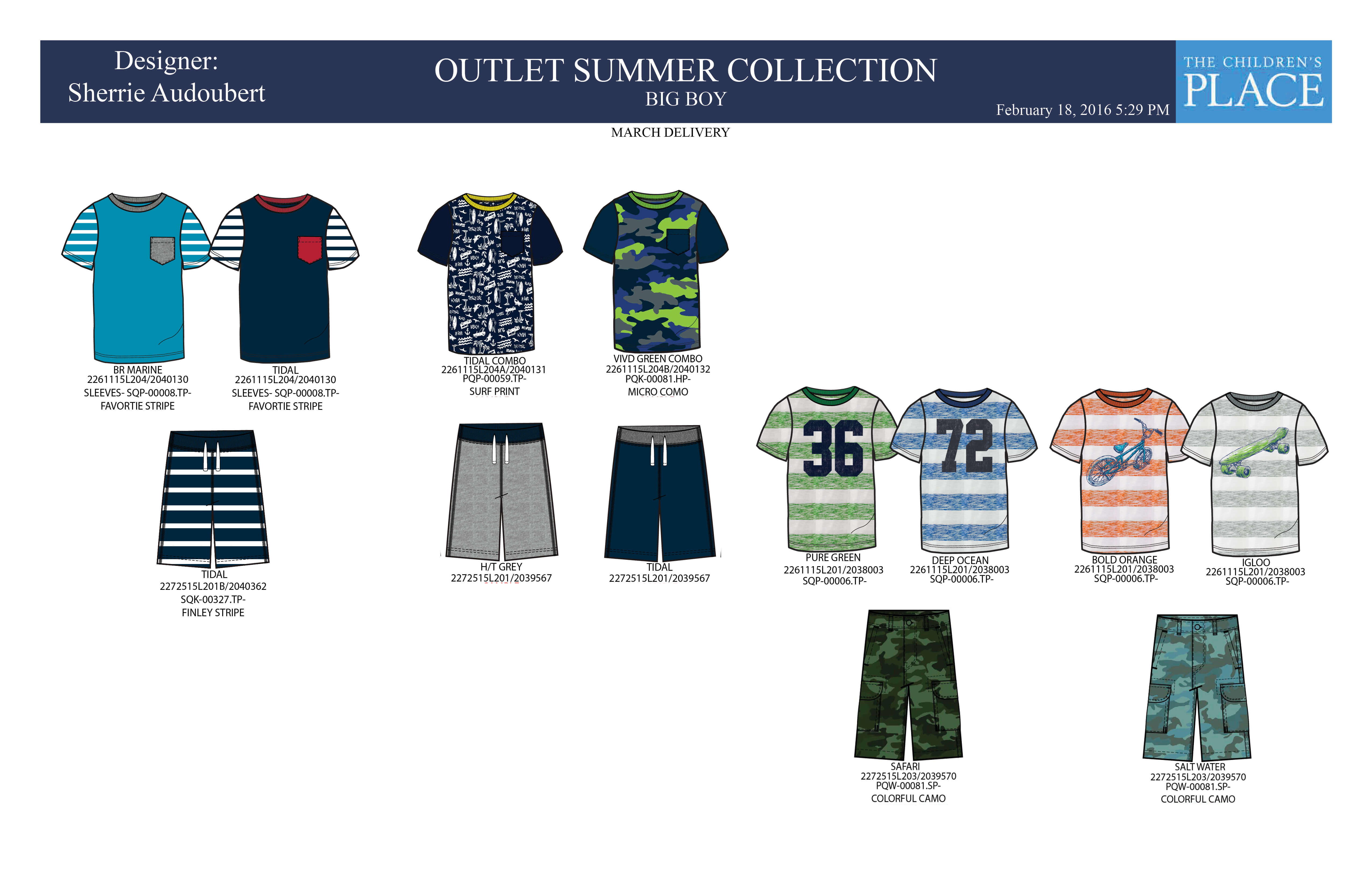 I worked with the textile CAD team to create the right prints for the summer collection.